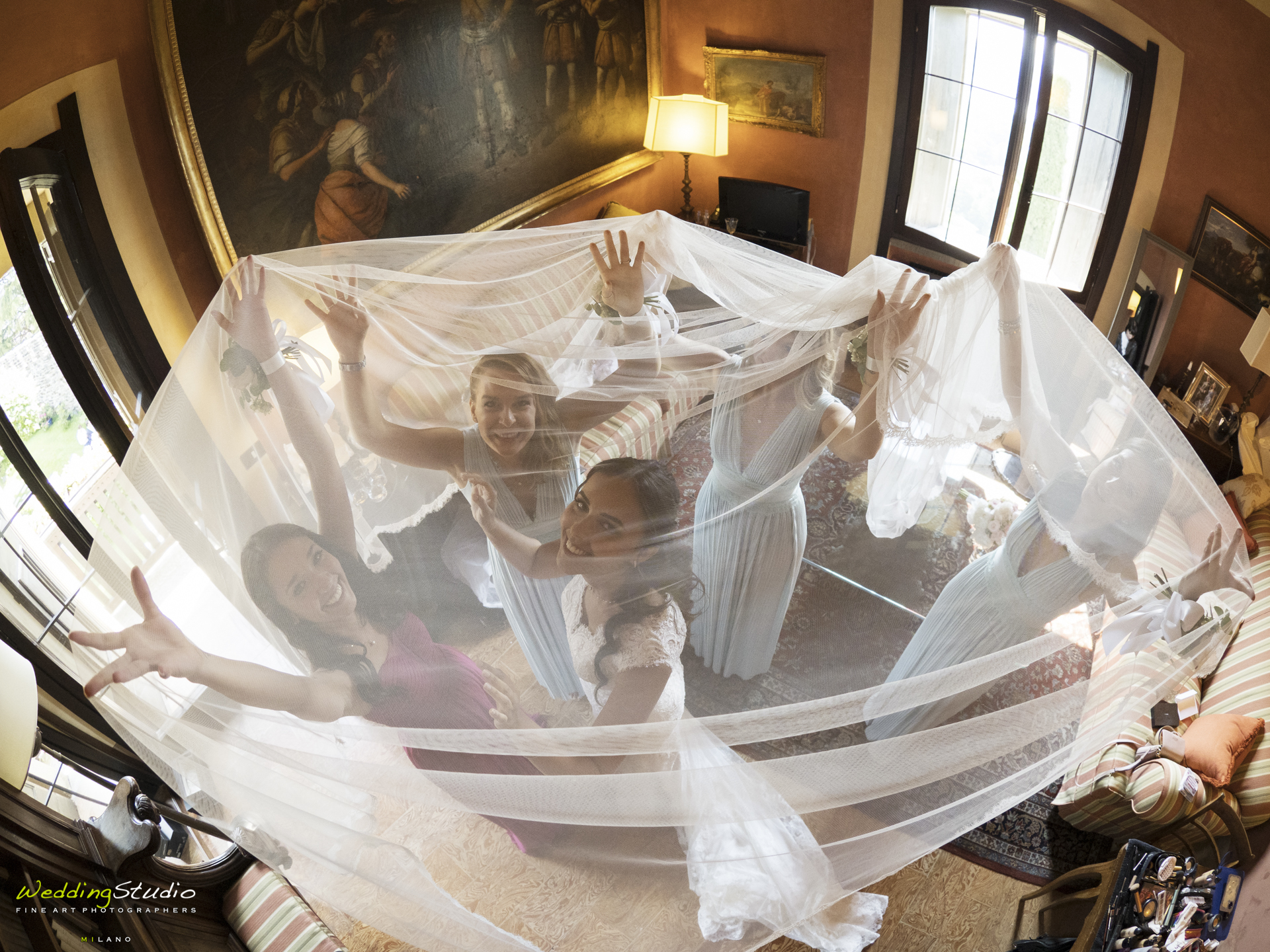 preparazione sposa e damigelle